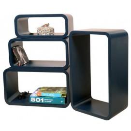 Набор полок Cube , zestaw 4 szt. LO01 HOME Design черные