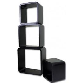 Набор полок Cube 4 szt. LO02-J HOME Design черные