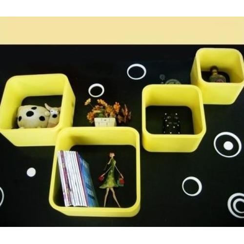 Набор полок regał zestaw 4 szt. Cube Yellow HOME Design 2951 HOME Design