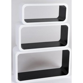 Набор полок Cube white/black, zestaw 3 szt. (VGL_LO88-BJ) HOME Design