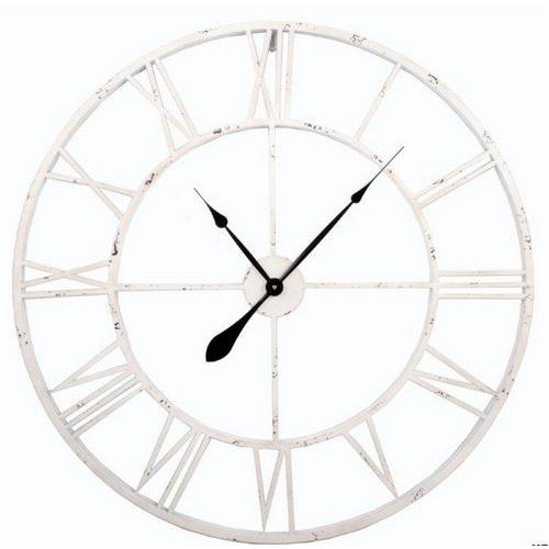 Часы настенные  Factory белые 82,5 cm D943019 Dyyk