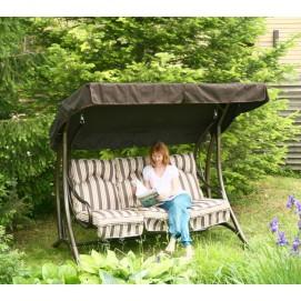 Качеля  Garden4you MONTREAL на 3 сиденья, коричневый