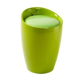 Стул Home4You AXEL, зеленый, красно-черный, с нишей