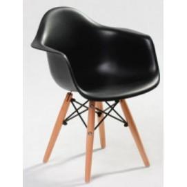 Кресло AC-018W черное Kordo ноги дерево
