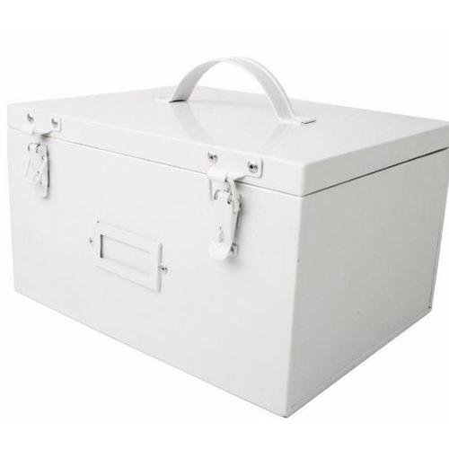 Сундук белый metalowy 23cm (D704010) Home Design