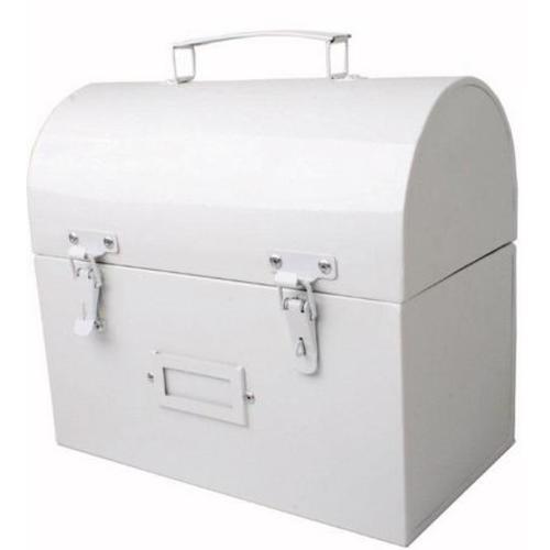 Сундук белый metalowy 25cm (D704011) Home Design