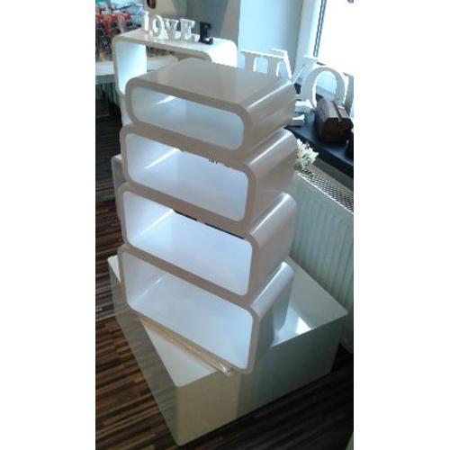 Набор полок Cube 4 szt белые Z3370 Home Design