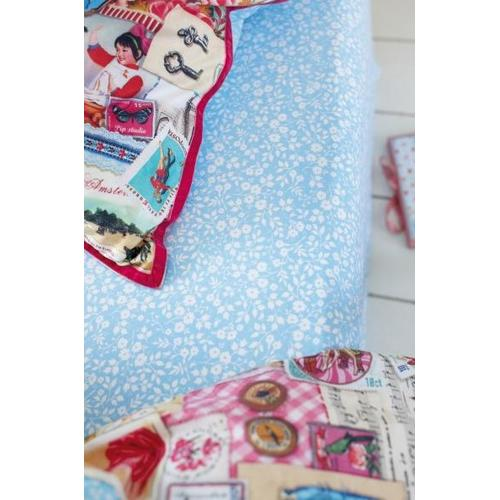 Простынь Lovely Branches fitted sheet 90 x 200 blue