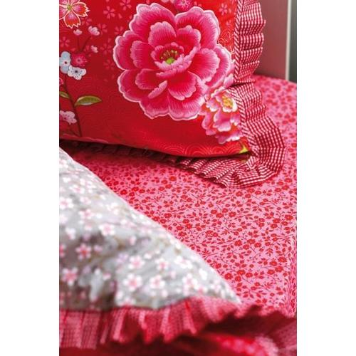 Простынь Lovely Branches fitted sheet 140 x 200 красная