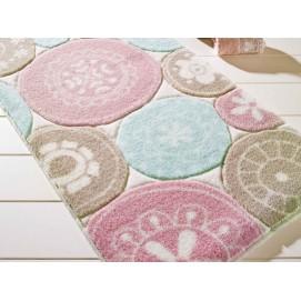 Коврик для ванной Confetti Rondo L. Pink (P. Pembe) 57х100 см