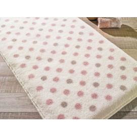 Коврик для ванной Confetti Polka L. Pink 55х57 см