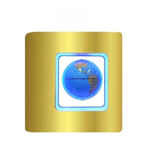 Глобус на магните в квадратной рамке с синей подсветкой (гм-06)