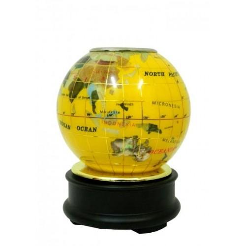 Глобус каменный: подставка для ручек (гк-14)дф