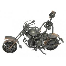 Статуэтка Арт: металлический мотоцикл с наездником,  (ам-20)