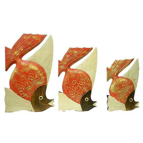 Набор рыб с острым плавником, 3 цвета (р-132, р-133, р-134)