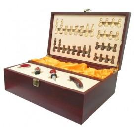 Винный набор на одну бутылку с набором сомелье и шахматами (вн-12)