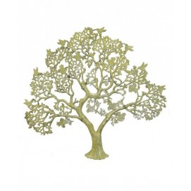 Дерево латунное с птицами на ветвях, 2 цвета (дл-08)