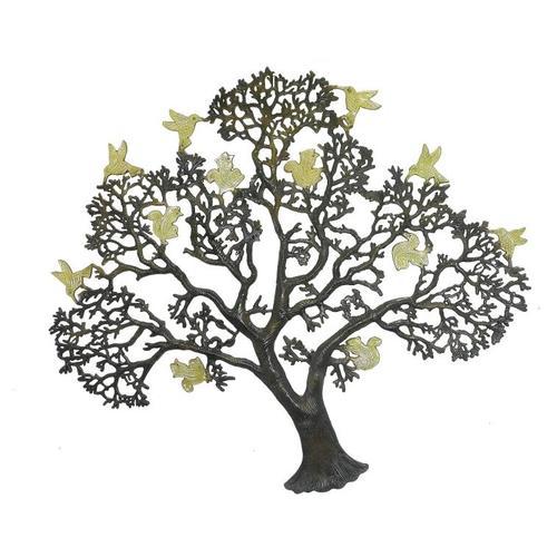 Дерево латунное с птицами на ветвях, 2 цвета (дл-07)