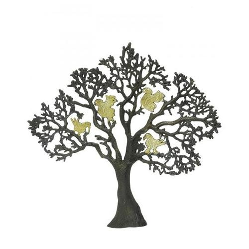 Дерево латунное с птицами на ветвях, 2 цвета (дл-06)