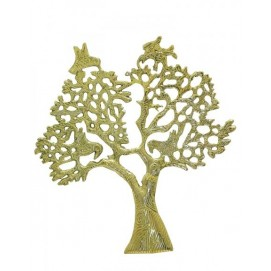 Дерево латунное с птицами на ветвях, 2 цвета (дл-05)