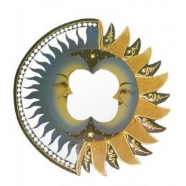 Солнышко c двумя месяцами, клиновидные зеркала и лучики (си-46)