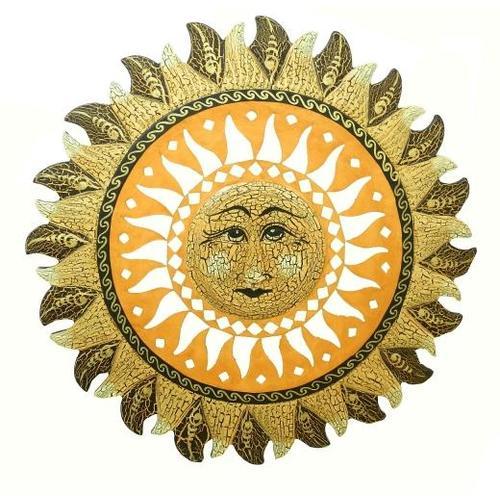 Солнышко с лучиками и ликом солнца посередине (си-53)