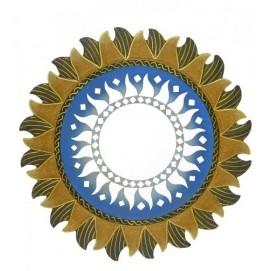 Солнышко с лучиками посредине зеркало, 4 цвета (си-52)