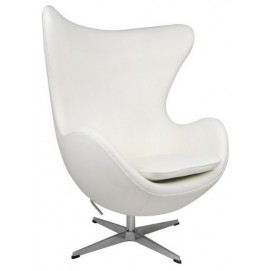 Кресло Эгг белое Mebelmodern
