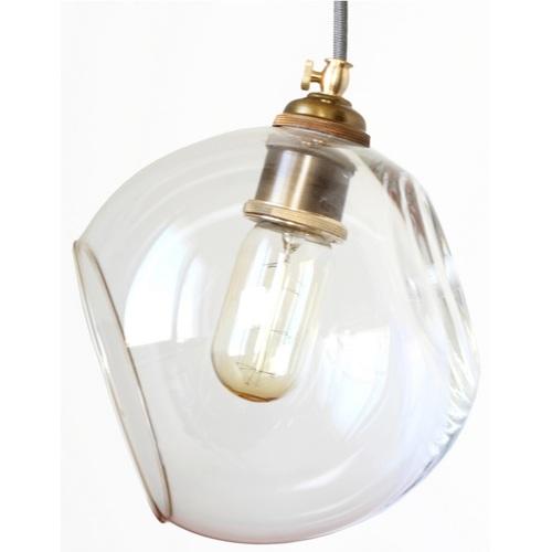 Лампа подвесная стекло 170 PikArt прозрачная