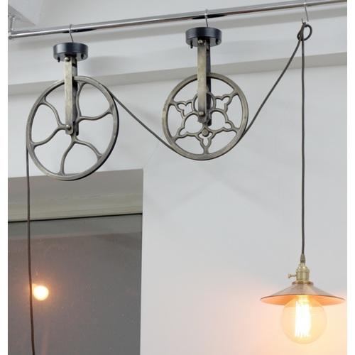 Лампа подвесная , 2 колеса 94 PikArt медь