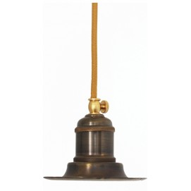 Лампа конус 12см, коричневая патина 954 PikArt