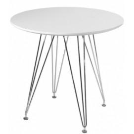 Стол обеденный AC-027F Kordo белый ноги металл