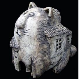 Скульптура Кот Дом Малый S020 Керамус