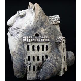 Скульптура Кот Дом Большой S019 Керамус