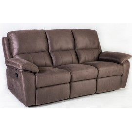 Диван LUNA 3-местный, 198x95xH99см, материал покрытия: ткань, цвет: коричневый 16736 Evelek