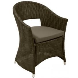 Кресло WICKER с подушкой коричневый 11750 Evelek