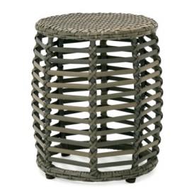Пуф CAMELLIA H38см, алюминиевая рама с плетением из пластика, цвет: серый 21038 Evelek