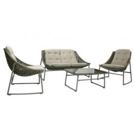 Комплект CELJE с подушками, стол, диван и 2 кресла серый 21004 Garden4You