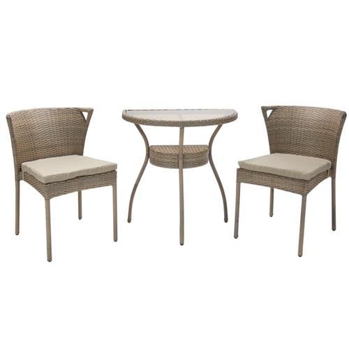 Комплект BREEZE стол и 2 стула 22111  Evelek коричневый