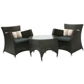 Комплект PALMI стол и 2 стула, D70xH50см 27746 Evelek коричневый