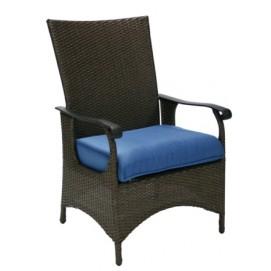 Кресло WICKER с подушкой, 66x61xH106cm темно-коричневый 11770Evelek
