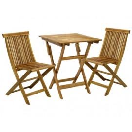 Комплект FINLAY стол и 2 стула (13181), 60x60xH72см K13186 Evelek натуральный