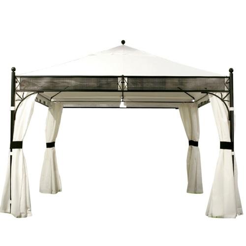 Шатёр SHANGHAI 3,5x3,5м, рама: сталь, крыша: ткань полиэстер, стенки: полиэстер, цвет: чёрно- белый 11815 Evelek