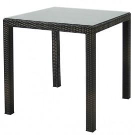 Стол обеденный WICKER тёмно-коричневый 13348 Evelek