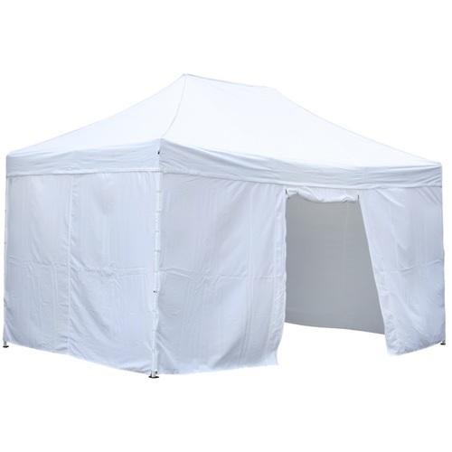 Шатёр 3x4,5м со стенками, складной, рама: сталь, крыша: полиуретан с покрытием ткани из полиэстера, цвет: белый 09430 Evelek