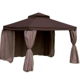 Шатёр LEGEND 3x3м, рама: алюминий, крыша и стенки: ткань полиэстер, цвет: тёмно-коричневый, бежевый 09334 Evelek