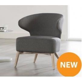Кресло 4540 / 48R темно-серое Zijlstra