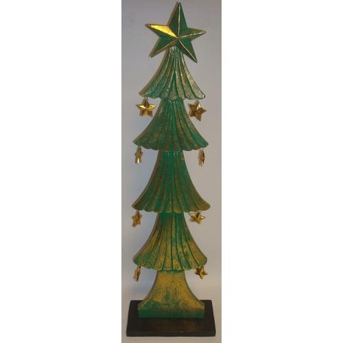 Ёлка зеленая с золотом,70см 20016