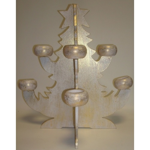 Ёлка -подсвечник белая,40см  20034 Ф-1