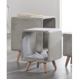 Стол журнальный Cubo-35 6341 / 48C Zijlstra серый бетон